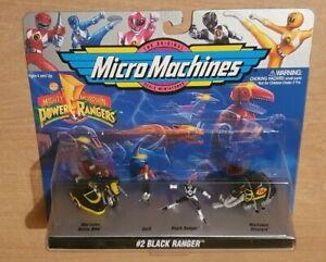 MICRO MACHINES GALOOB 1994 POWER RANGERS  #2 BLACK RANGER