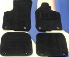 AUDI A4 & S4 2002-2008 BLACK QUALITY  TAILORED CAR MATS  + 8 ROUND CLIPS