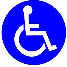 """4"""" x 4"""" Set of 4 Disabled Wheelchair Handicap Round Vinyl Decal- Sticker Label"""