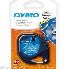 Dymo 91335 Letra Tag BLUE Labels LetraTag XR LT-100T LT-100H & QX50 Refill Tapes