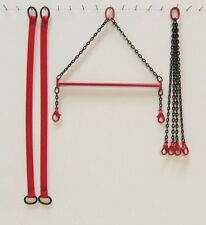 "4"" Brass Crane Spreader Bar Set in Manitowoc Red. 1:50 1:48th Scale. USA Made"