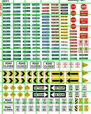 9011 DAVE'S HO DECALS STREET ROAD SIGNS WITH ASSORTED MISC ROAD SIGNS MORE