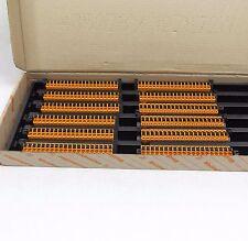 BOX OF 12 WEIDMULLER 1014570000, 20 POSITION TERMINAL BLOCK PLUG STR 5.08M
