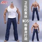 1/6 White Vest Blue Jeans Male Clothes Fit 12'' Phicen Body M35 Figure Body