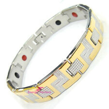 Unisex Magnetic Bracelet 4in1 + Germanium Anion FIR + 3000 Gauss Magnets