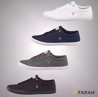 New Mens Farah Vintage Summer Canvas Pumps Sizes UK from 6 to 12