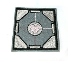 Portal Companion Cube iron on patch 75mm x 75mm