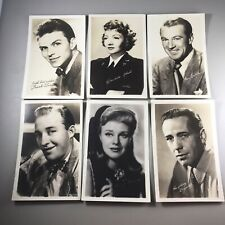 Lot of 6 Vintage Movie Celebrity/Fan Actor Hollywood Publicity Photo Cards
