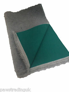Grey Green back Vet Dog Bed Fleece Bedding puppies whelping dog VETBED
