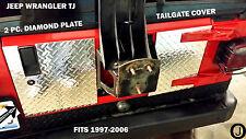Jeep Wrangler TJ 2 pc Highly Polished Aluminum Diamond Plate Tailgate Cover