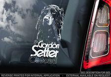 Gordon Setter - Car Window Sticker - English Irish Gundog Dog on Board Sign
