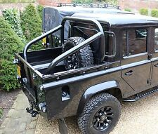 """Land Rover Defender 3"""" Roll Hoop Bar Cage 90 110 Bison Cosmetic Rear Tube Pickup"""