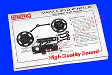 Eumig 810D & 810D Lux Dual 8mm sonido cine Proyector Libro De Instrucciones