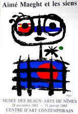 """JOAN MIRO LITHOGRAPH   """"AIME MAEGHT ET LES SIENS"""" (1983)"""
