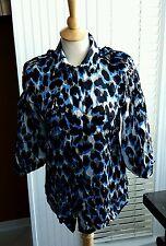 Roberto Cavalli Animal Print Silk Blouse  Multicolor Top Shirt  SIZE ITALY 40
