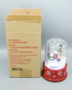 Avon Christmas Caroling Snowman VIDEO Snow Globe Music Lights New Open Box 2014