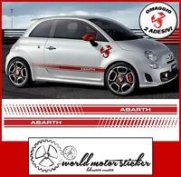 adesivi tuning auto per fiat 500 stickers fascia fiancata abarth scorpione rosso