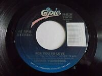 Luther Vandross For You To Love 45 1988 Epic Vinyl Record