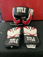 Title Mma Tactical Gloves And Title Boxing Head Face guard
