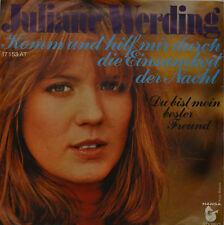 """JULIANE WERDING - KOMM Y AYUDA MIR A TRAVÉS DE LA SOLEDAD - Single 7"""" (I234)"""