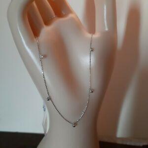 Station necklace 18k white japan gold