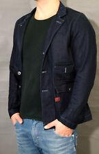 G-star Jeans Jacket Hunter Slim Blazer Blazer Size L Dk Aged Indigo Denim New