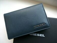 New Navy / Orange DIESEL Small Leather Bifold CARD & NOTES WALLET In Box