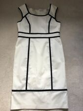 BNWT M&S 'Autograph' 100% Cotton Cream / Black Shift Dress Size 14