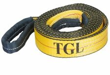 "New 2""X20FT Tow Strap W/Loop Ends 10,000 LB Capacity Recovery Rescue Winch Sling"