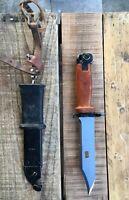 Soviet Russian Military USSR Original Polish Red Bakelite Bayonet Fighting Knife