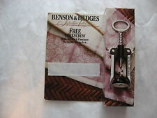 BENSON & HEDGES SIGNATURE COLLECTION CORKSCREW48798A3( 1991 P.M. ) NIB