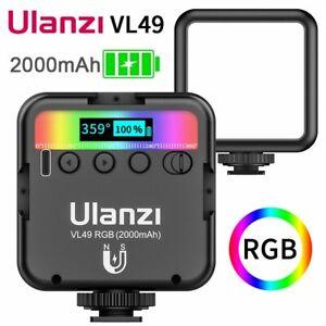 Portable VL49 Mini RGB LED Video Light Vlog iPhone Camera Fill Lamp Hot Shoe