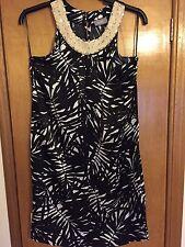 Wallis Black And White Patterned Dress