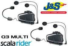 Scala Rider Q3 Multi Set Motorcycle Intercom Motorbike Touring Scooter Bluetooth