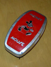 MICKEY MOUSE HAIR BRUSH  RED METAL   1930'S  WALT DISNEY ENTERPRISES  EARLY
