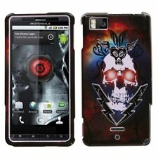 Lightning Skull Hard Case Cover for Motorola Droid X