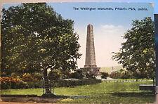 Irish Postcard WELLINGTON MONUMENT Obelisk Phoenix Park Dublin Ireland Saxony