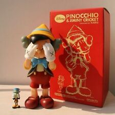 Original Fake Kaws Pinocchio and Jiminy Cricket Pinocho 28cm figure with box