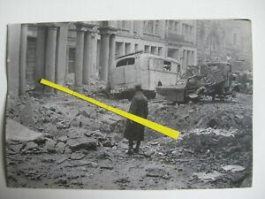 Original WK2 Presse Foto Berlin Mitte Endkampf Bombenschäden 1945 Mohrenstraße