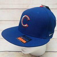 Chicago Cubs MLB Nike True Adjustable Snapback Hat Cap Blue Under Bill Pattern