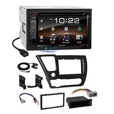 Kenwood DVD Sirius Bluetooth Stereo Dash Kit Harness for 2013-15 honda Civic