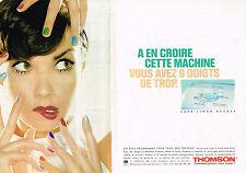 PUBLICITE ADVERTISING 015  1996  THOMSON    lave linge ACCESS ( 2 pages)