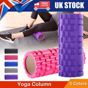 Fitness Yoga 15MM Mat Gym Workout Pilates Exercise Mat + Yoga Foam Roller UK