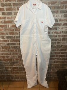 Dickies Flex Short Sleeve Coveralls White Size 3XL NEW NWT