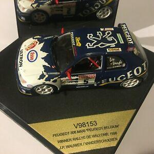 PEUGEOT 306 MAXI EVO WINNER RALLYE DE WALLONIE 1998 VITESSE V98153 1/43 SCALE