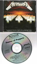 """METALLICA """"Master of puppets"""" CD + Artwork m.i.France 1986 on Music for Nations"""