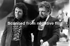 Vintage original B&W negative ILFORD photo film : JOHNNY MATHIS / CLAUDE NOUGARO