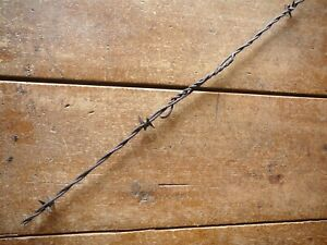 SCUTTS SINGLE CLIP BARB - CLAMP & WRAP FACTORY SPLICE - ANTIQUE BARBED WIRE