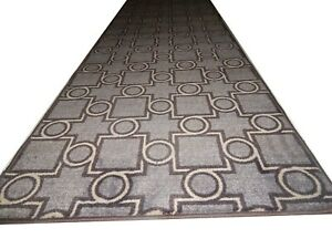 "Runner Rug Moderm HEAT SET Nylon 100% 30"" W X Your Choice Length & STEP 9""x30"""