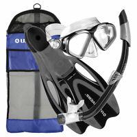 U.S. Divers Adult Cozumel Mask, Seabreeze II Snorkel, ProFlex Fins, Gear Bag Set